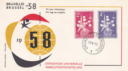 BELGIO - BUSTA FDC - EXPOSITION UNIVERSELLE - BRUXELLES - 1957 - 1951-60