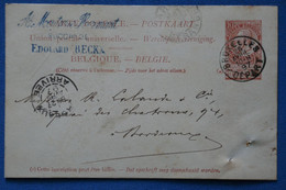 AE 8 BELGIQUE  BELLE LETTRE  1897 BRUXELLES  POUR BORDEAUX FRANCE + + + AFFRANCH. INTERESSANT - Non Classificati
