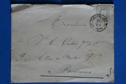 AE 8 BELGIQUE  BELLE LETTRE  1886 PETIT BUREAU POUR BORDEAUX FRANCE + + + AFFRANCH. PLAISANT - 1884-1891 Leopoldo II