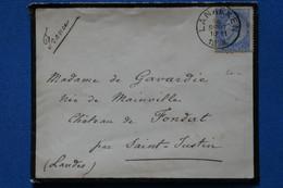 AE 8 BELGIQUE  BELLE LETTRE  1888  PETIT BUREAU LAENAKEN POUR  CHATEAU  SAINT JUSTIN + + + AFFRANCH. PLAISANT - Non Classificati