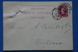 AE 8 BELGIQUE  BELLE LETTRE  1887  BRUSSELS   POUR   BORDEAUX+ + AFFRANCH.INTERESSANT - Non Classificati