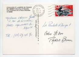 - Carte Postale TOMBLAINE (Meurthe-et-Moselle) Pour PARIS 30.1.1978 - Bel Affranchissement Philatélique CROIX-ROUGE - - Briefe U. Dokumente