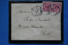 AE 8 ALLEMAGNE BELLE CARTE   1897  POUR  PARIS FRANCE+ + AFFRANCH.INTERESSANT - Brieven En Documenten