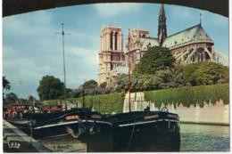 CPSM 75 Paris Notre Dame Et La Seine - Notre Dame Von Paris