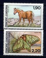 ANDORRE 1988, PAPILLON Et CHEVAL, 2 Valeurs, Neufs / Mint. R2017 - Ungebraucht