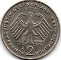1975 - Germania 2 Mark D - 2 Mark