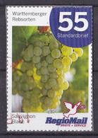 BRD Privatpost Regio Mail (55 Cent) Württemberger Rebsorten Sauvignon Blanc (A1-23) - Private & Local Mails