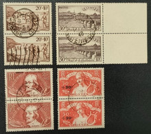 N° 345/450/330/329  Avec Oblitération Cachet à Date De 1936 à 1940 En Paire  TTB - Oblitérés