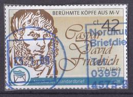 BRD Privatpost Nordkurier (42 Cent) Berühmte Köpfe Aus M-V Caspar David Friedrich (A1-23) - Private & Local Mails