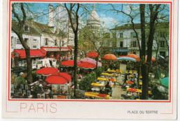 CPSM 75 Paris Montmartre, Place Du Tertre Et Le Sacré Cœur (1992) - Notre Dame Von Paris