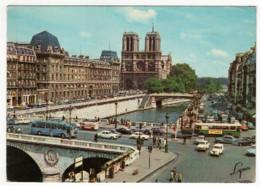 CPSM 75 Paris Notre Dame, Le Pont Et Le Quai Saint Michel - Notre Dame Von Paris