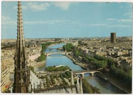 CPSM 75 Paris Panorama Sur La Seine Depuis La Flèche De Notre Dame (1984) - Notre Dame Von Paris