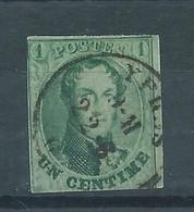 """N°9 OBLITERE """"YPRES"""" - 1858-1862 Medaglioni (9/12)"""