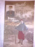 Bonne Année - Général Joffre ? - Ange - Cavalerie - Zouave - J. Courcier Paris 204 - Heimat