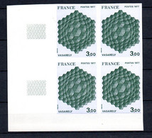 Y-26 France Bloc De 4 NON DENTELES COIN DE FEUILLE Du N° 1924a ** Côte 320 Euros. A Saisir !!! - Collections (en Albums)