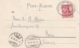 Allemagne Ambulant Frankfurt - Basel Sur Carte Postale Pour La Suisse 1903 - Brieven En Documenten