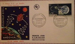 FDC Satellite For TV Connection 1962 France - Storia Postale