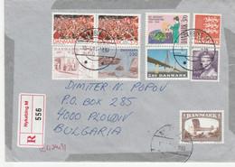 DENMARK Registered Letter To Bulgaria - Briefe U. Dokumente
