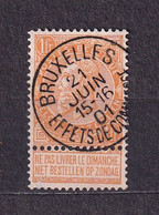 [65_0009] Zegel 65 Met Cirkelstempel Bruxelles Effets De Commerces  Scan Voor- En Achterzijde - 1893-1900 Barba Corta