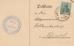 LORCH  >> SCHORNDORF  11.10.1915    Krankenkasse - Brieven En Documenten
