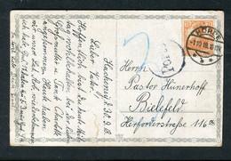"""Deutsches Reich / 1918 / Karte (AK) """"Nachgebuehr"""" Stempel """"Hoerle"""" (5194) - Brieven En Documenten"""