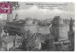 35 FOUGERES Le Château Cachet Privé Type 1 - Fougeres