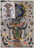 MiNr. 1564 Frankreich1966, 19. Nov. Kunst. StTdr Maximumkarte Der Mond Und Der Stier; Wandteppich Von Jean Lurçat - Non Classificati