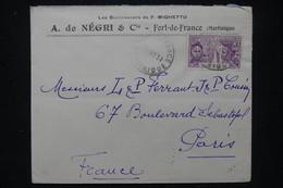 MARTINIQUE - Enveloppe Commerciale De Fort De France Pour Paris En 1931, Affranchissement Exposition Coloniale- L 109720 - Briefe U. Dokumente