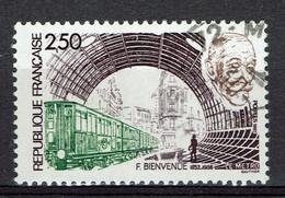 France, Fulgence Bienvenüe, Le Métro Parisien, 1987, Obl, TB - Gebraucht