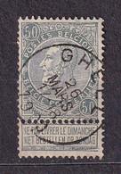 [63_0007] Zegel 63 Met Cirkelstempel Gheel Scan Voor- En Achterzijde - 1893-1900 Barba Corta