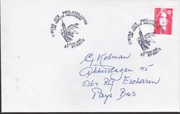 Frankrijk 1993, Letter To Netherland, Stamped With A Bird - Briefe U. Dokumente