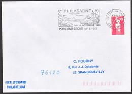 Frankrijk 1993, Port Sur Saone, Philasaone, Stamped With A Bird - Briefe U. Dokumente