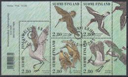FINNLAND 1352-1356, Gestempelt, Tag Der Briefmarke: Watvögel, 1996 - Blocks & Kleinbögen