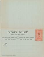 BELGIAN CONGO PS 59 UNUSED - Postwaardestukken