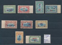 BELGIAN CONGO 1918 RED CROSS COB 72/80 MNH SANS CHARNIERE POSTFRIS - 1894-1923 Mols: Postfris