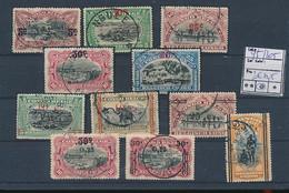 BELGIAN CONGO COB 95/105 USED - 1894-1923 Mols: Afgestempeld