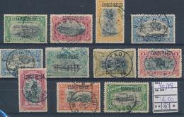 BELGIAN CONGO 1909 ISSUE TYPO COB 40/49 USED - 1894-1923 Mols: Afgestempeld
