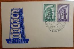 BELGIO 1956 FDC EUROPA - 1951-60