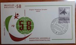 BELGIO 1958 FDC Congres Philatelique Europeen Preos - 1951-60