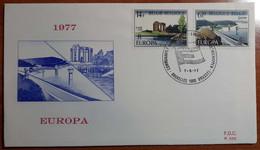 BELGIO 1977 FDC EUROPA - 1971-80