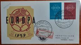 BELGIO 1959 FDC EUROPA - 1951-60
