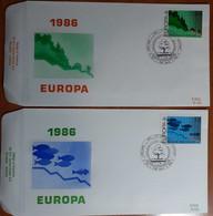 BELGIO 1986 FDC EUROPA - 1981-90