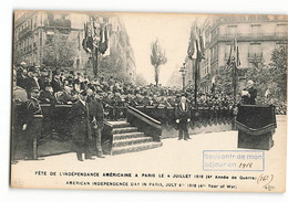AMERICAN INDEPENDENCE DAY In Paris July 4 1918 ELD E LE DELEY N502 - Weltkrieg 1914-18