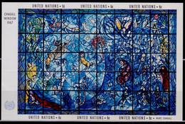 United Nations, 1967, Art Of Chagall's Memorial Window, Minisheet, MNH - Ungebraucht