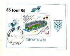 1988 FOOTBALL - EURO 88 S/S - Perf. Used/oblitere (O)  BULGARIA / Bulgarie - Blocks & Kleinbögen