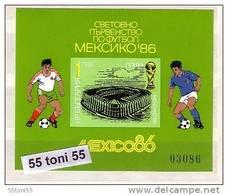 1986 Sport  Football World Cup - MEXICO  S/S -imperf. MNH  Bulgaria / Bulgarie - Blocks & Kleinbögen