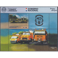 🚩 Discount - Paraguay 2019 The 40th Anniversary Of The Volunteer Firefighters Corps Of Paraguay  (MNH)  - Cars, - Auto's