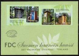 2013 Finland, Prettiest Outhouses FDC. - FDC