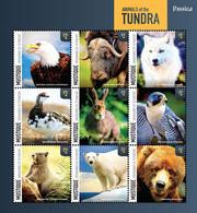 Mustique Grenadines Of St. Vincent 2014 ROSSICA 2014: ANIMALS OF THE TUNDRA SHEETLET  I202110 - St.Vincent Und Die Grenadinen