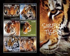 Mayreau Grenadines Of St. Vincent  ROSSICA 2014: SIBERIAN TIGERS SHEETLET  I202110 - St.Vincent Und Die Grenadinen